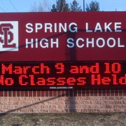 Spring Lake High School - LED message center