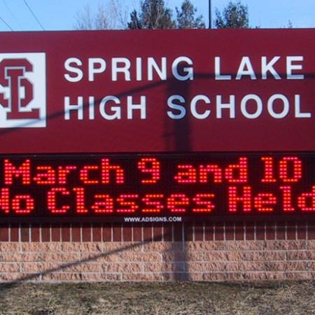 Spring Lake High School - LED message center