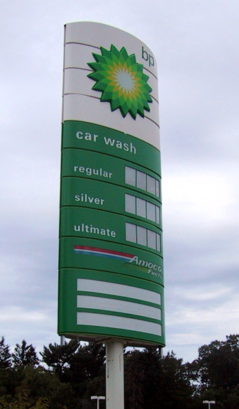 Pylon Sign for BP Gas Station